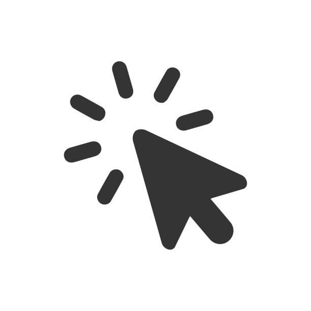 stockillustraties, clipart, cartoons en iconen met pay-per-klik op het icoon - computermuis