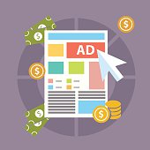 Pay per click internet advertising model when ad is clicked