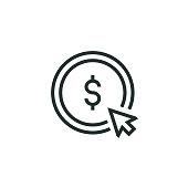 istock Pay Per Click Line Icon 1316046272