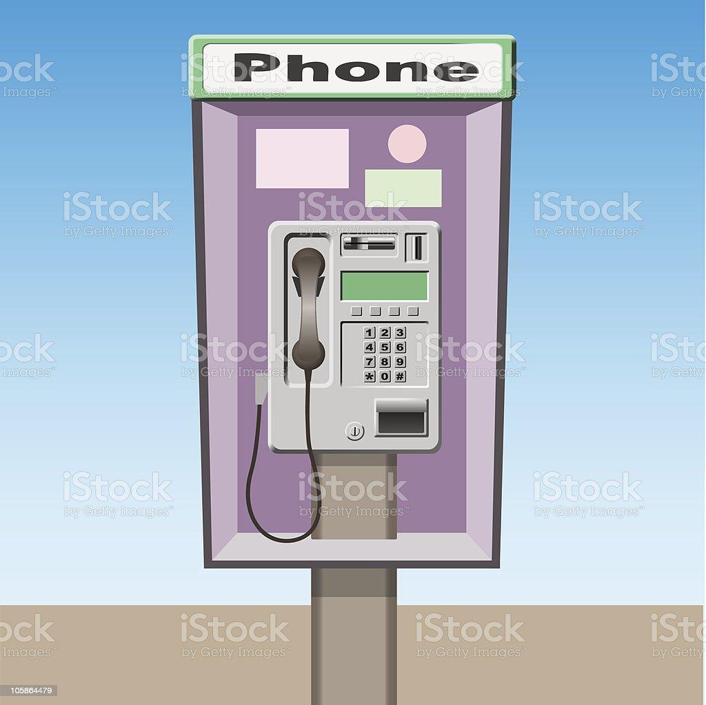 Pay Phone royalty-free stock vector art