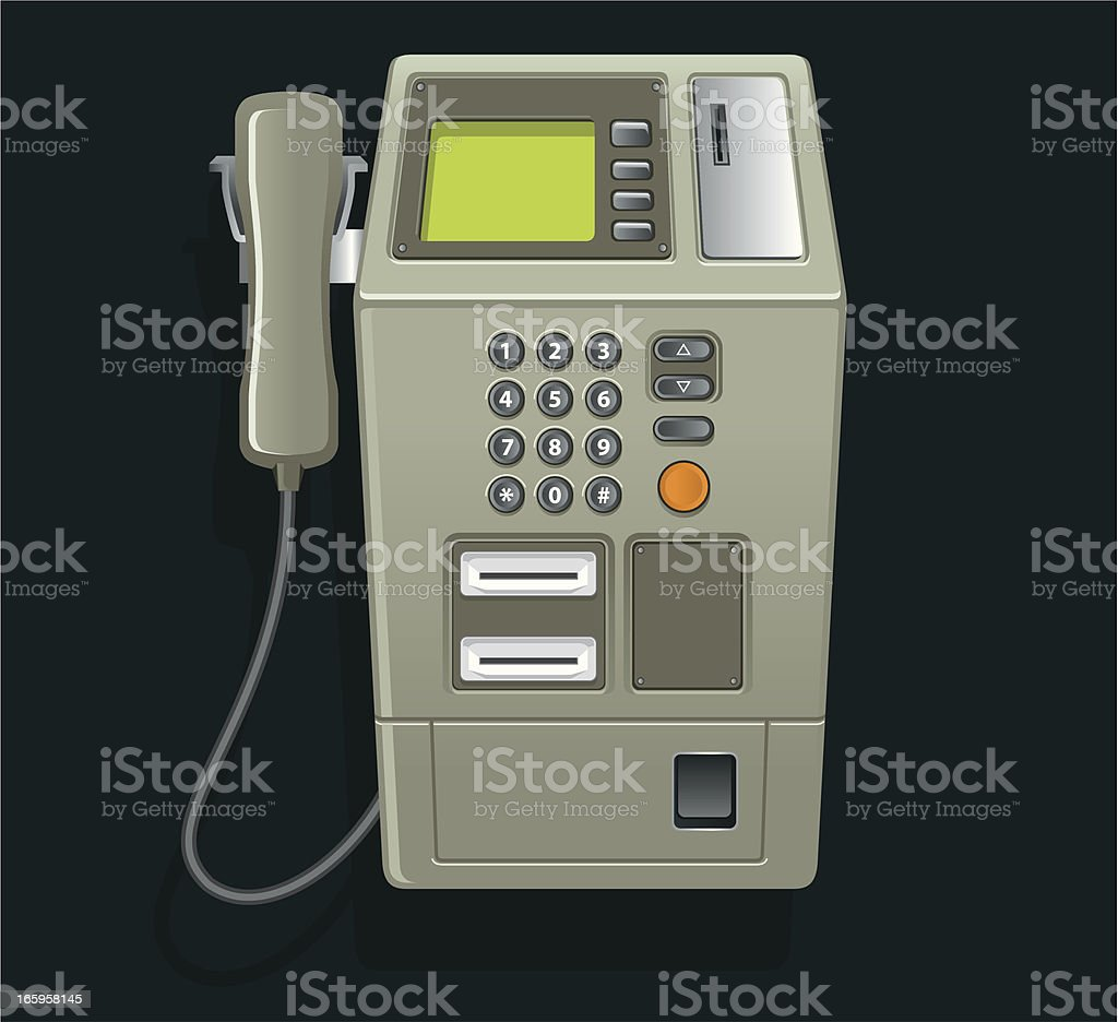 Pay Phone vector art illustration