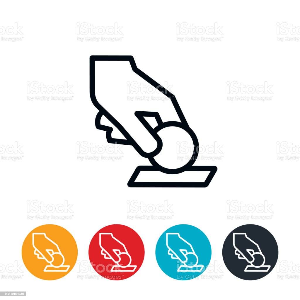 Paying a Toll Icon vector art illustration