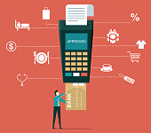 istock Payment by credit card - Businessman 1286981486