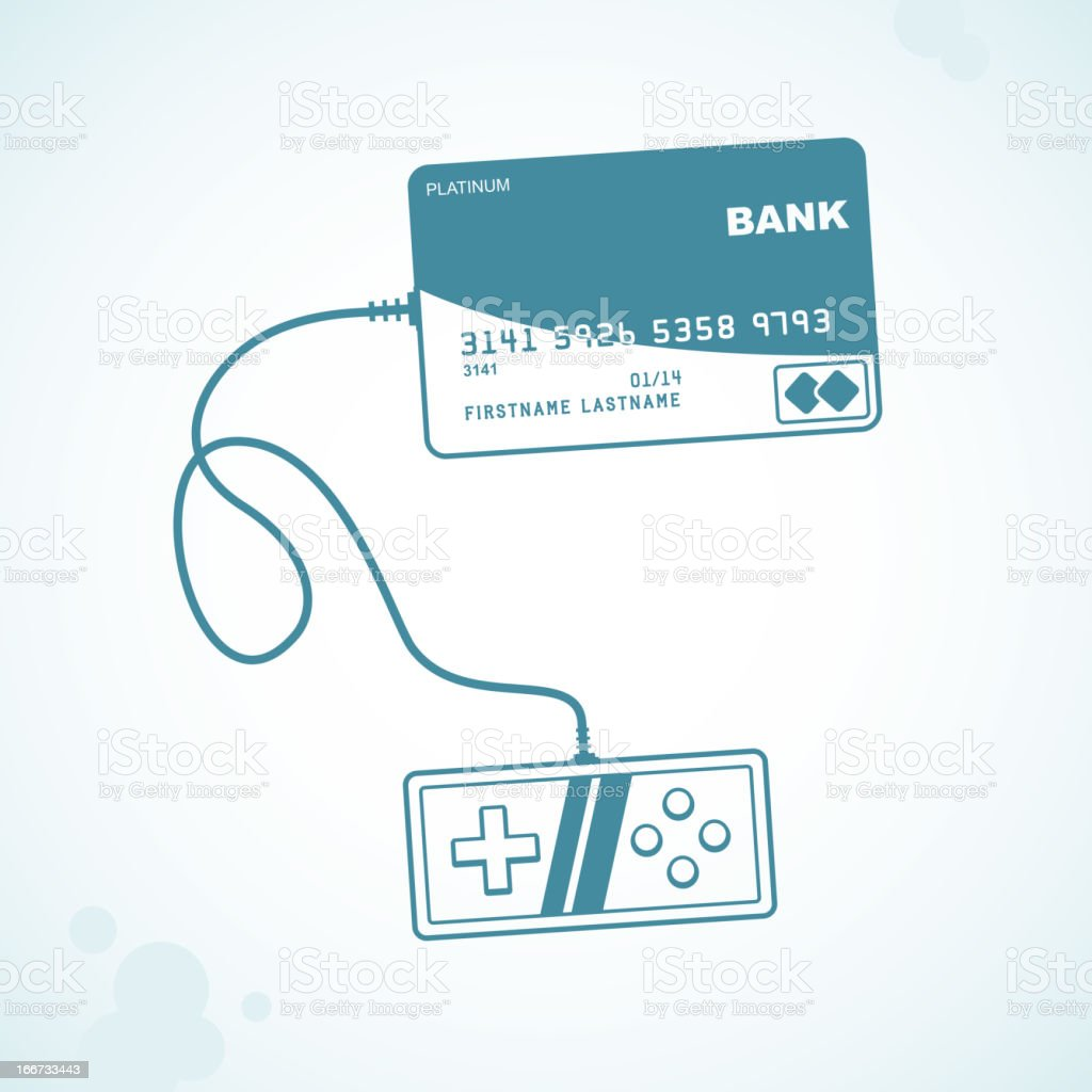 payment by credit card royalty-free stock vector art