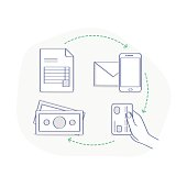 Payment concept illustration infographic icon set