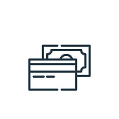 istock payment method icon vector from cyber monday concept. Thin line illustration of payment method editable stroke. payment method linear sign for use on web and mobile apps, logo, print media.. 1269565672