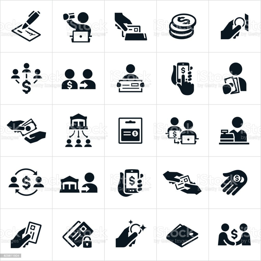 Payment Methods Icons vector art illustration