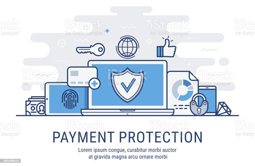 Payment protection vector illustration vector art illustration