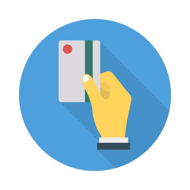 Streichen Sie Zahlungskarte – Vektorgrafik