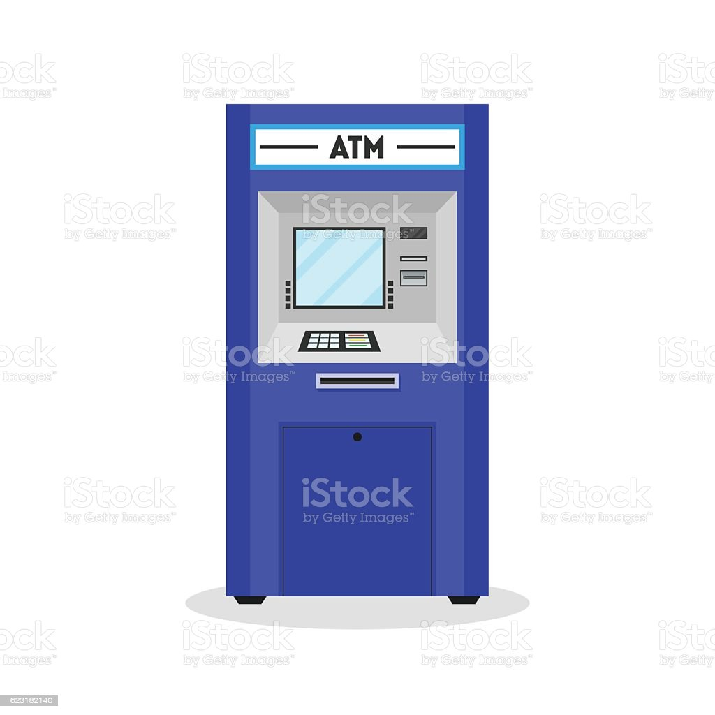 ATM Payment Terminal Auto Teller Machine. Vector vector art illustration