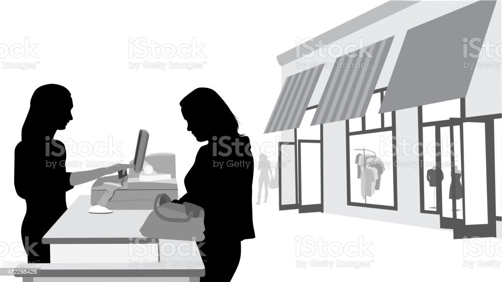 Payment Vector Silhouette royalty-free stock vector art
