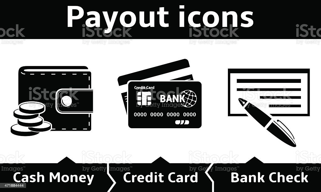 Payout icons vector art illustration