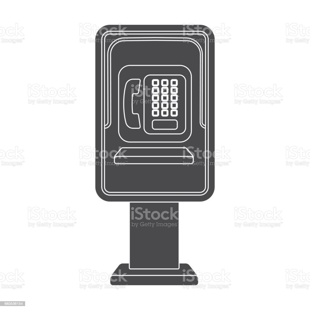 Payphone icon in black style isolated on white background. Park symbol stock vector illustration. vector art illustration