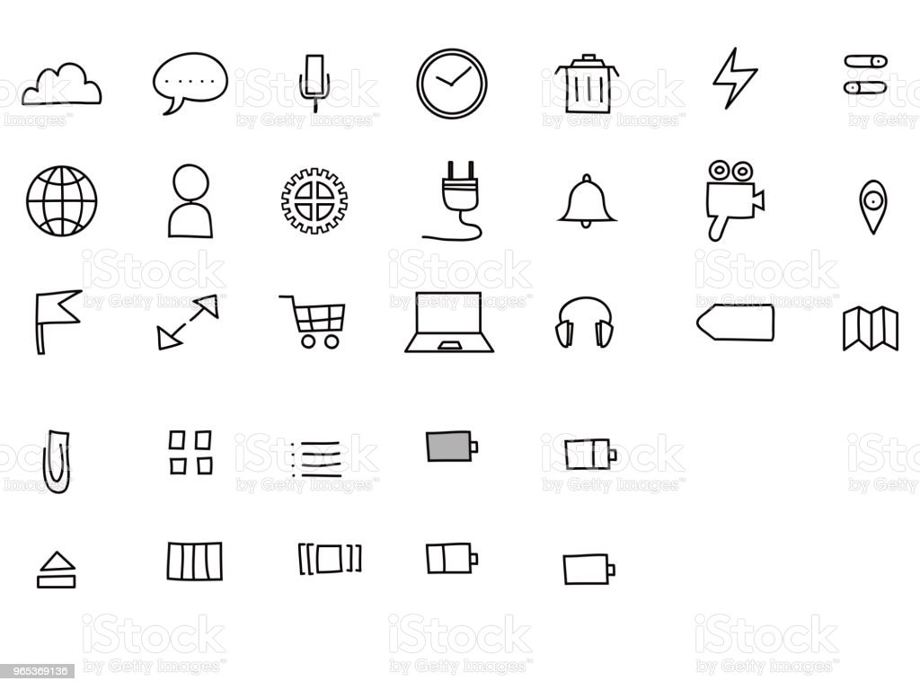 pc icon set royalty-free pc icon set stock vector art & more images of business