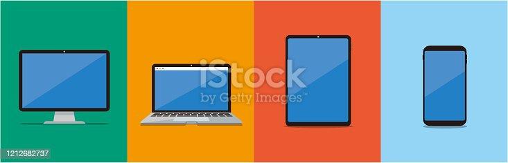 pc laptop smartphone vector illustration