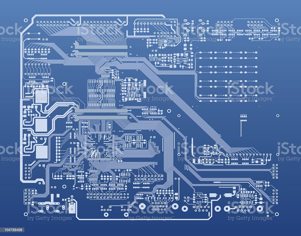 Pcb Stock Vector Art More Images Of Cpu 104733409 Istock Circuit Boards With Clock Hands Royalty Free Image Amp