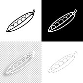 istock Pea. Icon for design. Blank, white and black backgrounds - Line icon 1295840043