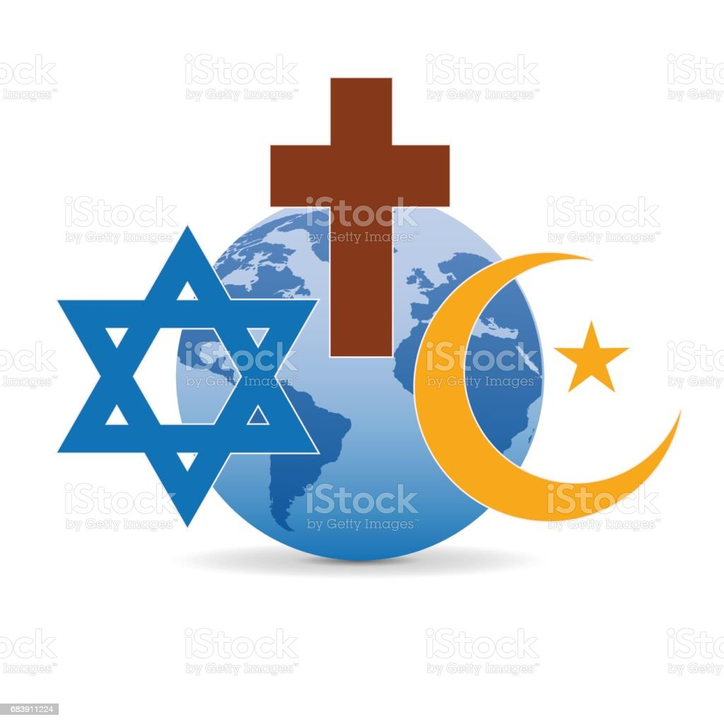 Peace And Dialogue Between Religions Christian Symbols Jew And