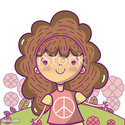 Peace And Love Cartoons Stock Vector Art & More Images of Baby 964812000