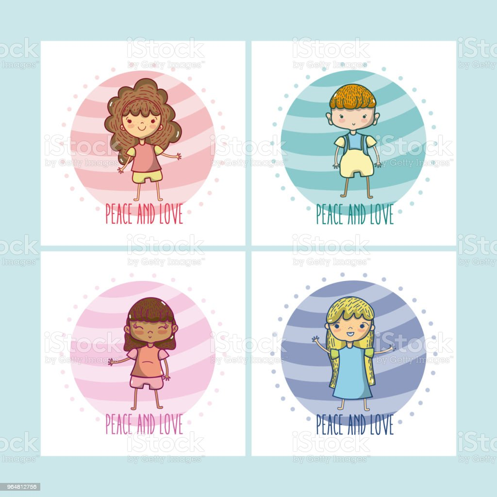 Peace and love cartoons royalty-free peace and love cartoons stock illustration - download image now