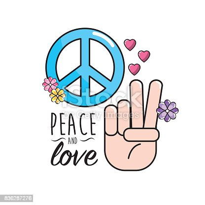 Peace And Love Symbol And Global Spirit Stock Vector Art More