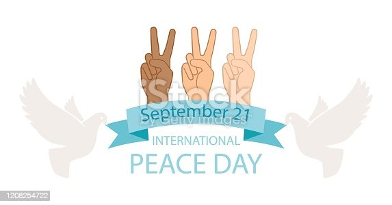 istock Peace day poster 1208254722