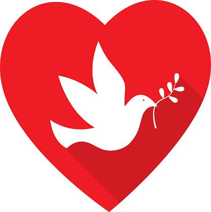 Peace Dove heart