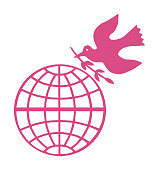 Peace Dove With Globe