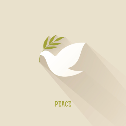 Peace dove with olive branch