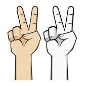 Cartoon Peace Sign Hippie Giraffe Stock Vector - FreeImages com