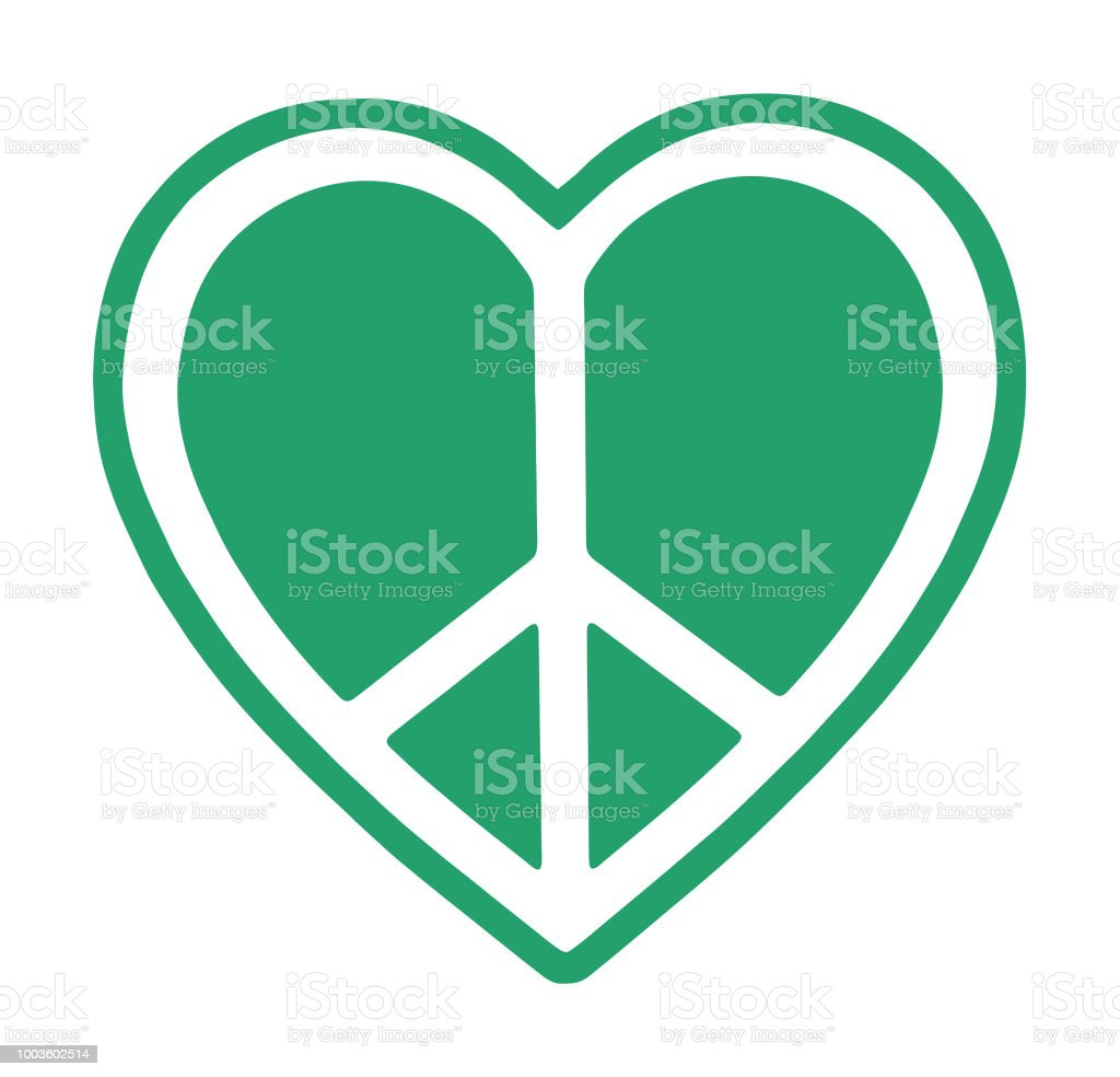 Peace Heart Stock Vector Art More Images Of Color Image 1003602514
