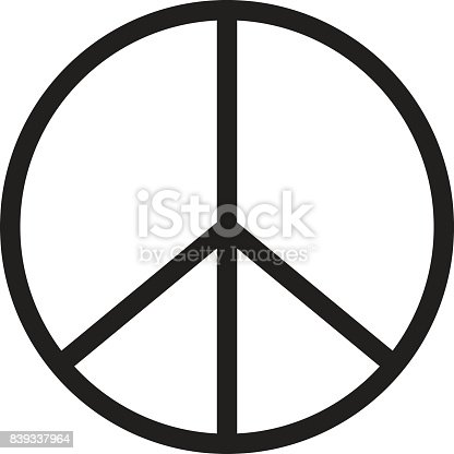 istock peace icon on white background. peace sign. 839337964