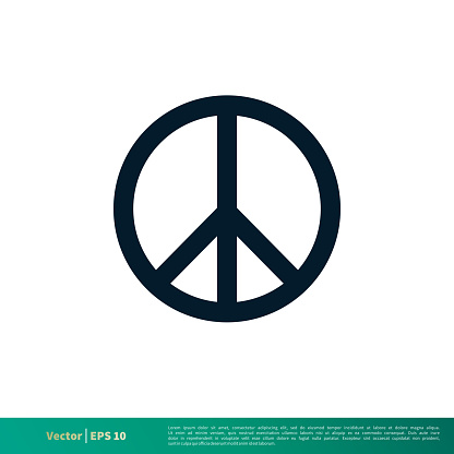 Peace Icon Vector Logo Template Illustration Design EPS 10.