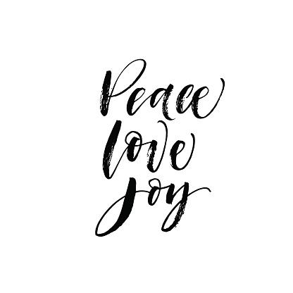 Download Peace Love Joy Postcard Stock Illustration - Download ...