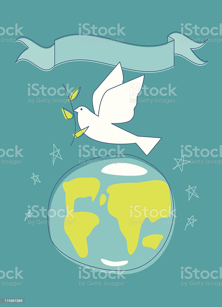 Peace On Earth vector art illustration