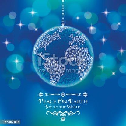 istock Peace On Earth World Ornament 187557643