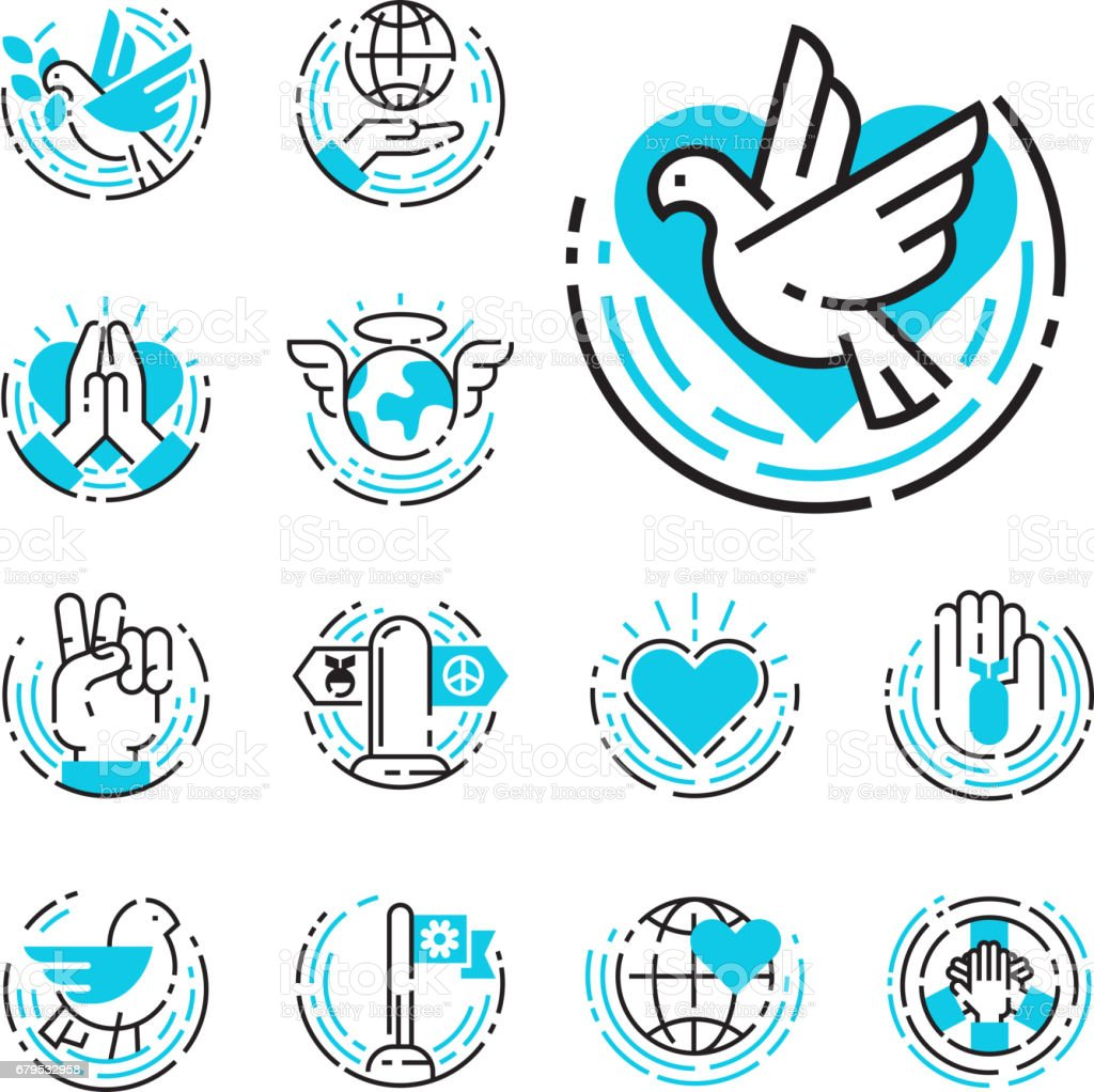 Peace outline blue icons love world freedom international free care peace outline blue icons love world freedom international free care hope symbols vector illustration royalty biocorpaavc Choice Image