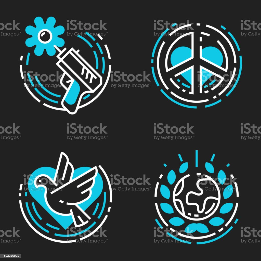 Peace outline blue icons love world freedom international free peace outline blue icons love world freedom international free care hope symbols vector illustration royalty biocorpaavc Image collections