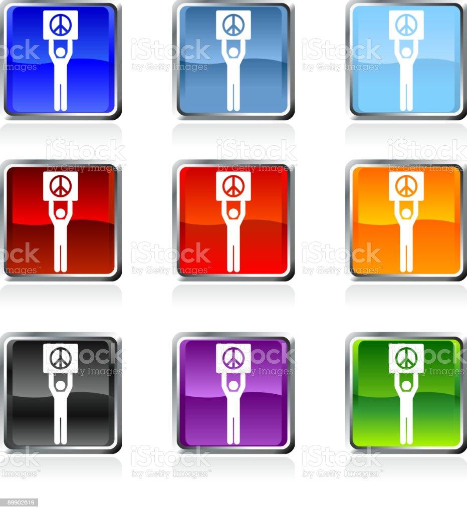 rally de paz de arte vectorial libre de derechos en nueve de colores ilustración de rally de paz de arte vectorial libre de derechos en nueve de colores y más banco de imágenes de azul libre de derechos