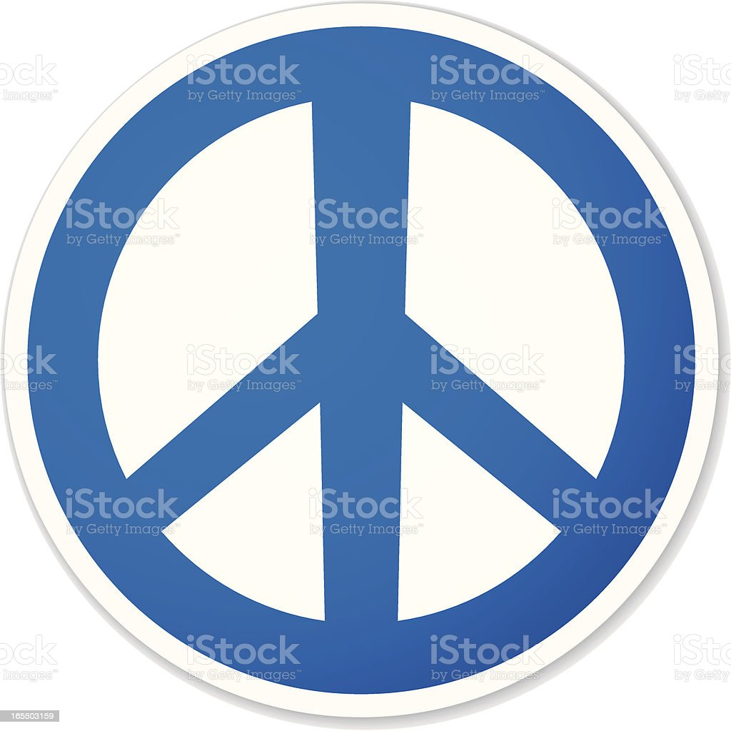 peace round sticker vector art illustration