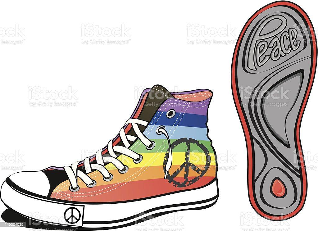 peace shoe royalty-free stock vector art