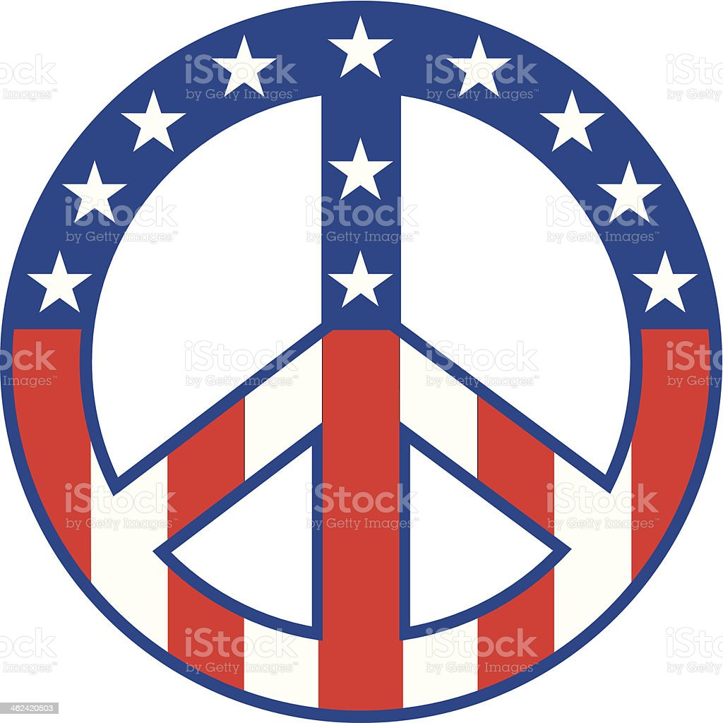 Peace sign american flag stock vector art more images of 1960 peace sign american flag royalty free peace sign american flag stock vector art amp biocorpaavc