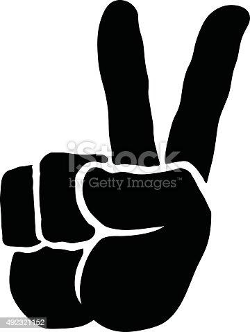 istock Peace Sign Hand 492321152