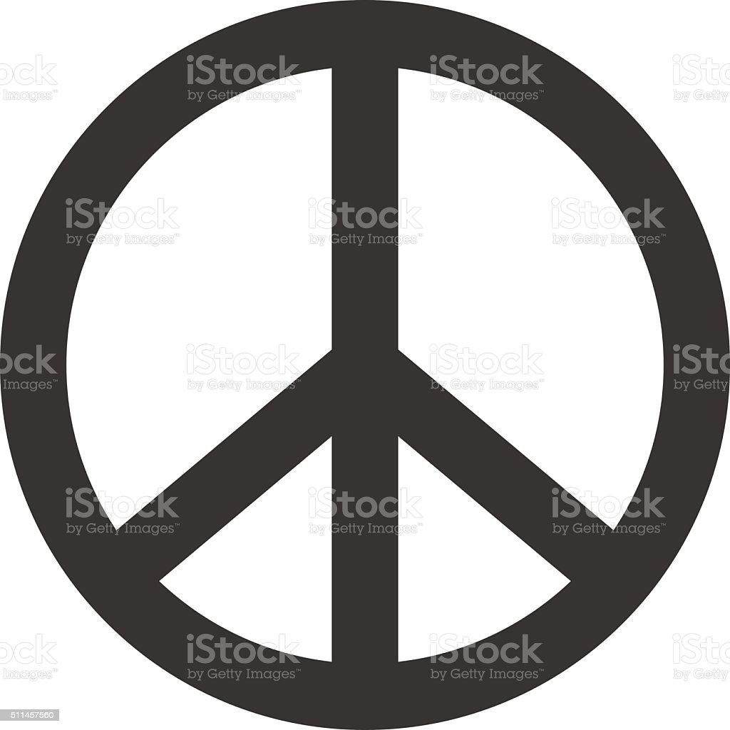 Peace sign. Hippie symbol of peace vector art illustration