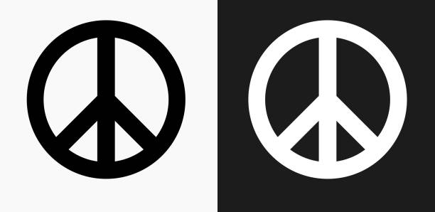 Royalty Free Peace Sign Black And White Clip Art Clip Art Vector