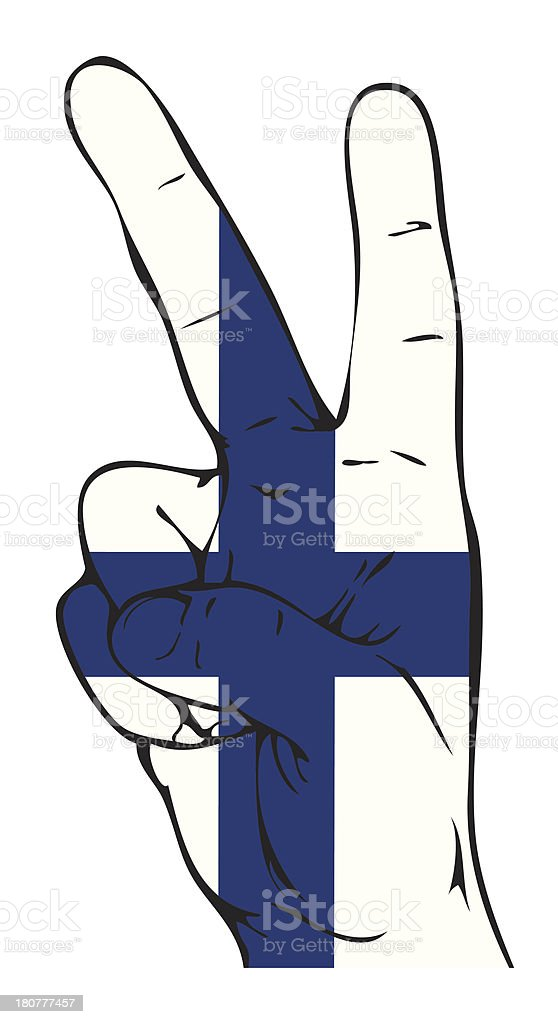 Peace Sign of the Finnish flag royalty-free stock vector art