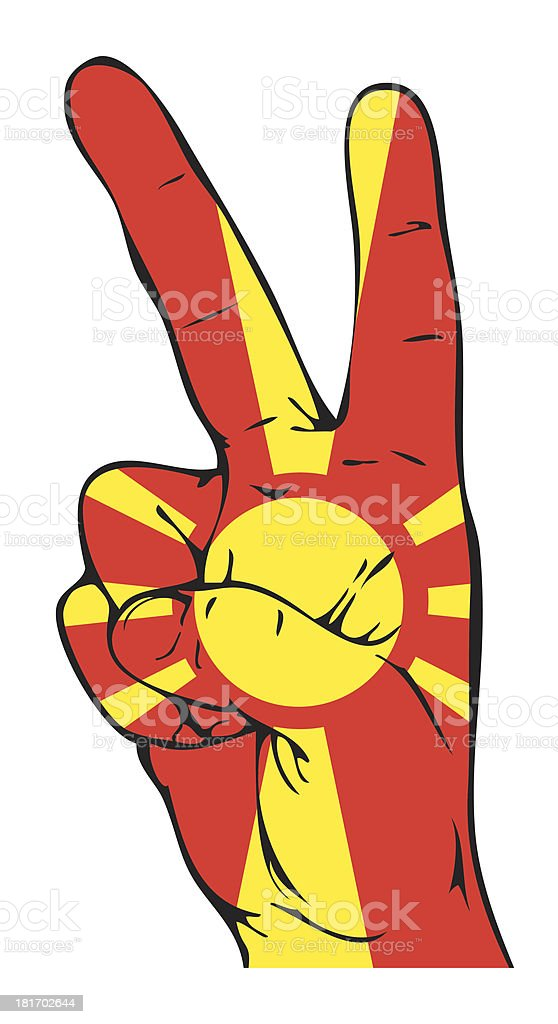 Peace Sign of the Macedonian flag royalty-free stock vector art