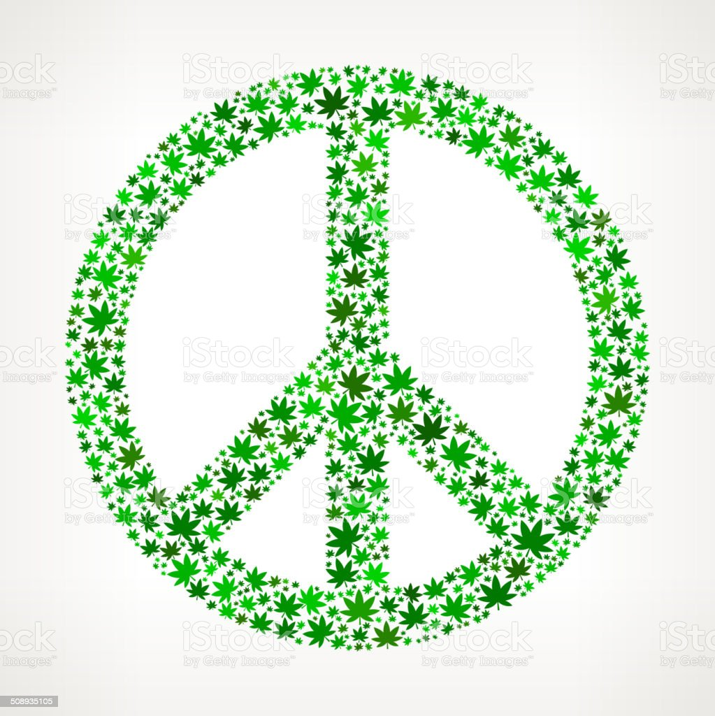 Peace Sign On Weed Royalty Free Vector Art Pattern Stock Vector Art