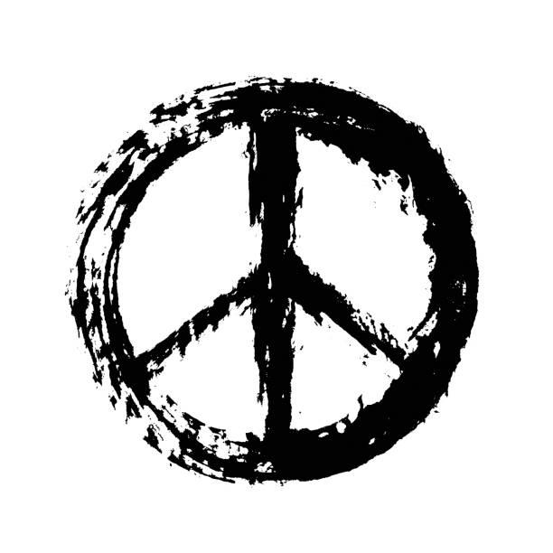 barış işareti - sembolizm akımı stock illustrations