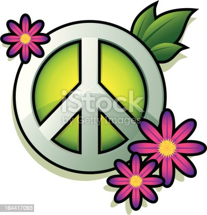 Peace Sign Stock Vector Art More Images Of 1960 1969 164417093